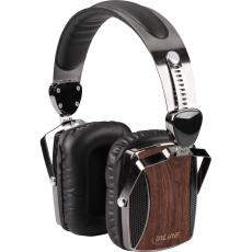 InLine® woodon-ear, wooden On-Ear Headset mit Kabelmikrofon und Funktionstaste, Walnuß
