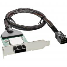 InLine® SAS HD low profile PCI Slotblech mit Kabel, ext. SFF-8088 auf int. SFF-8643, 0,5m