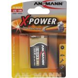 ANSMANN 5015643 Alkaline Batterie 9V-Block E, X-Power