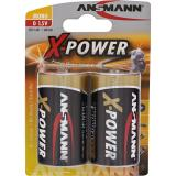 ANSMANN 5015633 Alkaline Batterie Mono D, X-Power, 2er-Pack