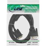 InLine® DVI-D Kabel, digital 18+1 Stecker / Stecker, Single Link, 2 Ferrite, 5m