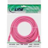 InLine® Patchkabel, SF/UTP, Cat.5e, pink, 20m